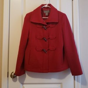 Ann Taylor Factory red coat VGUC